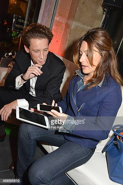 Acer Marketing director Fabrice Massin and Shirley Bousquet attend the Acer Pop Up Store Launch Party at Les Halles on November 20 2014 in Paris...
