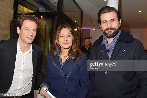 Acer Marketing director Fabrice Massin, Shirley Bousquet and Gregory Fitoussi attend the Acer Pop Up Store Launch Party at Les Halles on November 20,...