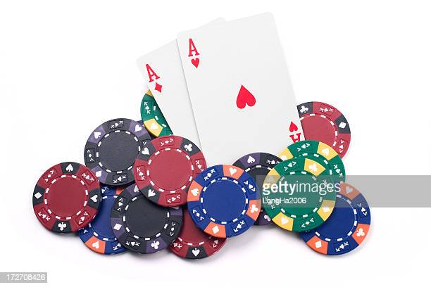 aces - texas hold 'em stock pictures, royalty-free photos & images