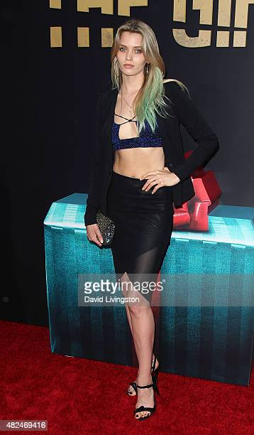 Acgress Abbey Lee attends STX Entertainment's 'The Gift' Los Angeles premiere at Regal Cinemas LA Live on July 30 2015 in Los Angeles California