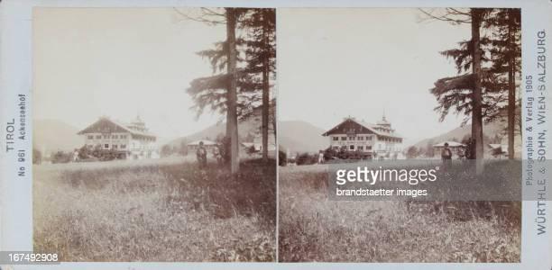 Achensee/Tirol Achenseehof 1905 Stereophotographie von Würthle Sohn