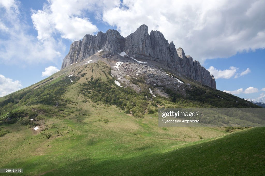 Acheshbok rock formation, Adygea, Caucasus Mountains : Stock Photo