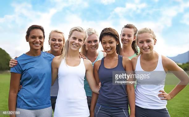 Unsere fitness-Ziele zu erreichen, wie ein team