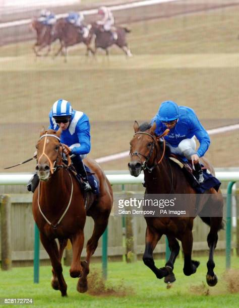 Achill Bay ridden by jockey Frankie Dettori wins the Newmarketracecoursescouk Houghton Conditions Stakes