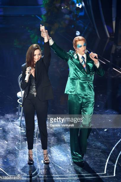 Achille Lauro and Annalisa attend the 70° Festival di Sanremo at Teatro Ariston on February 06 2020 in Sanremo Italy
