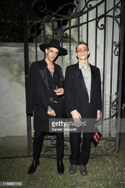 Achille Lauro and Boss Doms attend the presentation of Stella McCartney during the Milan Men's Fashion Week Spring/Summer 2020 on June 14 2019 in...