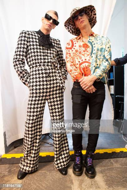 Achille Lauro and Boss Doms attends the Tenco Prize 2019 on October 17 2019 in Sanremo Italy