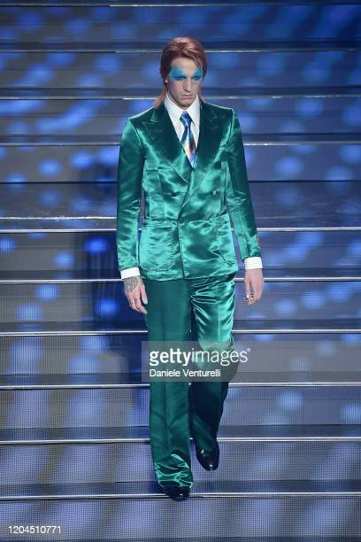 Achille Lauro attends the 70° Festival di Sanremo at Teatro Ariston on February 06 2020 in Sanremo Italy