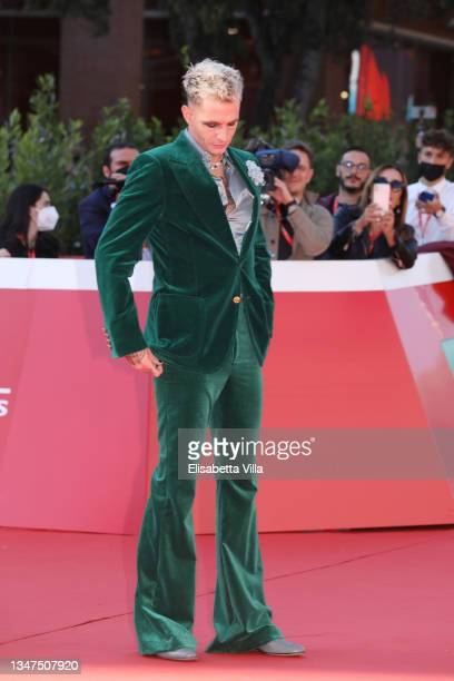 """Achille Lauro attends the red carpet of the movie """"Anni Da Cane"""" during the 19th Alice Nella Città 2021 at on October 19, 2021 in Rome, Italy."""
