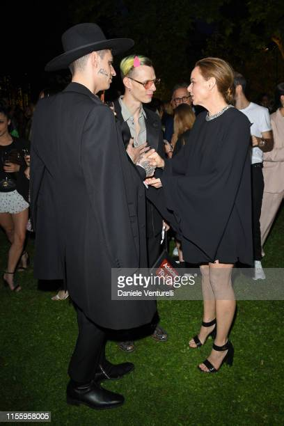 Achille Lauro Boss Doms fashion designer Stella McCartney attend the presentation of Stella McCartney during the Milan Men's Fashion Week...