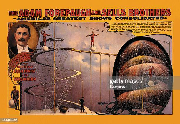Achille Philion The Marvelous Equilibrist and Originator The Adam Forepaugh and Sells Brothers Shows