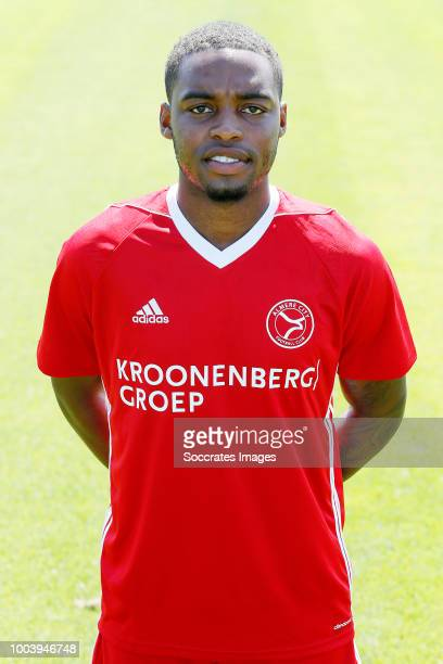 Achille Vaarnold of Almere City during the Photocall Almere City at the Yanmar Stadium on July 16 2018 in Almere Netherlands