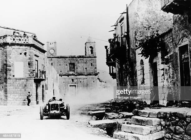 Achille Varzi in a P2 Alfa Romeo Grand Prix car in the Targa Florio race Sicily 1930 Varzi came first in this race The previous five Targas had been...