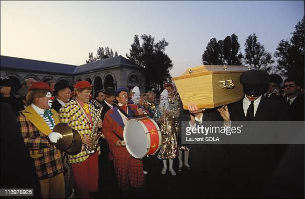 Achille Zavatta's funerals at Pere Lachaise In Paris France On November 23 1993