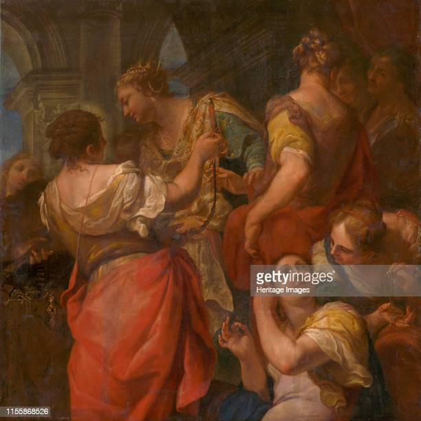 Achilles and the Daughters of Lycomedes circa 1680 Found in the Collection of Slovak National Gallery Bratislava Artist Molinari Antonio