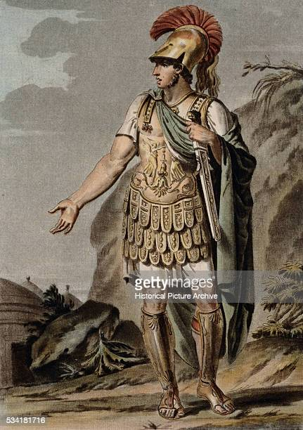 Achilles in Armour Costume for Iphigenia in Aulis by Philippe Chery