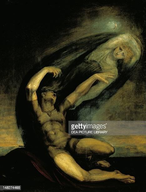 Achilles trying to grasp at the shade of Patroclus by Johann Heinrich Fussli 91x71 cm Zürich Kunsthaus