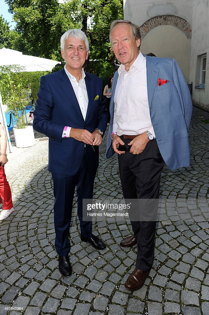 Achim Rohnke and Herbert Kloiber attend the FFF Reception at Praterinsel on July 3, 2014 in Munich, Germany.