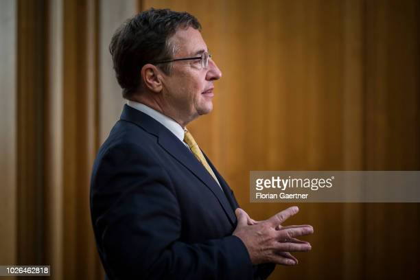 Achim Steiner Administrator of the United Nations Development Programme is pictured on September 03 2018 in Berlin Germany