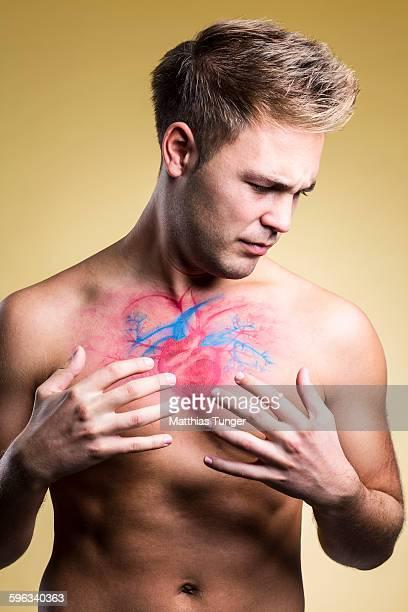 Aching heart of a man