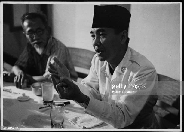 Achmad Sukarno President of Indonesia and Hafi Salim Socialist Foreign Minister in 1949