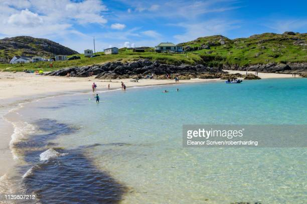 Achmelvich beach in Highland, Scotland, Europe