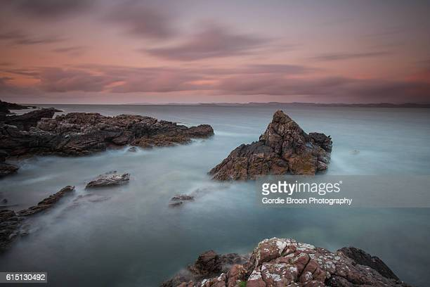 achnahaird bay sunset. - wester ross stock pictures, royalty-free photos & images