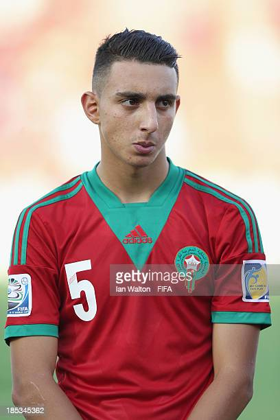 Achraf Achaoui of Morocco during the Group C FIFA U17 World Cup match between Croatia and Morocco at Fujairah Stadium on October 18 2013 in Fujairah...