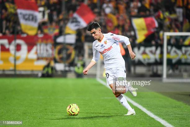 Achraf Bencharki of Lens during the Ligue 2 match between Chateauroux and Lens on April 8 2019 in Chateauroux France