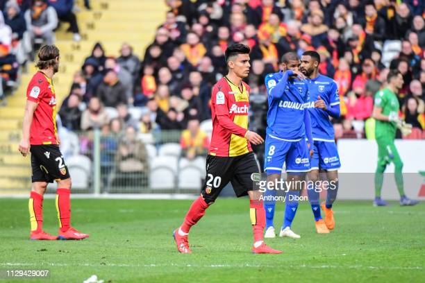 Achraf Bencharki of Lens during the Ligue 2 match between RC Lens and AJ Auxerre at Stade BollaertDelelis on March 9 2019 in Lens France