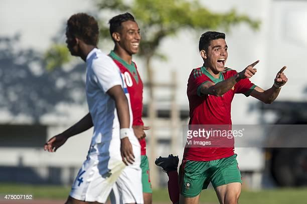 Achraf Bencharki of Morocco U21 celebrate his goal during the Festival International Espoirs de Football tournament match between Netherlands U21 and...