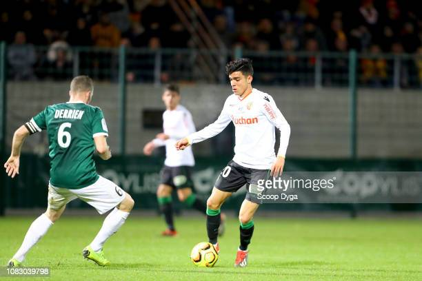 Achraf Bencharki of RC Lens during the Ligue 2 match between Red Star and Lens at Stade Pierre Brisson on January 14 2019 in Beauvais France