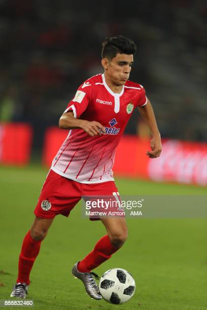 Achraf Bencharki of Wydad Casablanca in action during the FIFA Club World Cup UAE 2017 match between CF Pachuca and Wydad Casablanca at Zayed Sports...