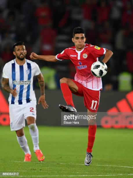 Achraf Bencharki of Wydad Casablanca in action during the FIFA Club World Cup match between CF Pachuca and Wydad Casablanca at Zayed Sports City...