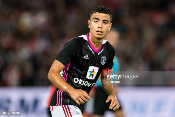 Achraf El Mahdioui of AS Trencin during the UEFA Europa League third round qualifying second leg match between Feyenoord Rotterdam and AS Trencin at...