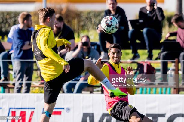 Achraf Hakimi of Borussia Dortmund during a training session as part of the training camp on January 09 2019 in Marbella Spain