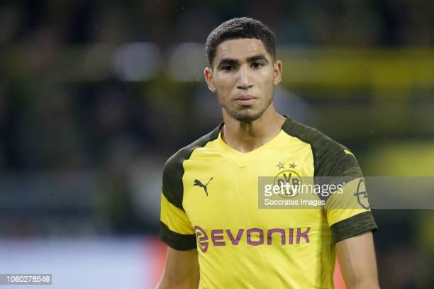 Achraf Hakimi of Borussia Dortmund during the German Bundesliga match between Borussia Dortmund v Bayern Munchen at the Signal Iduna Park on November...