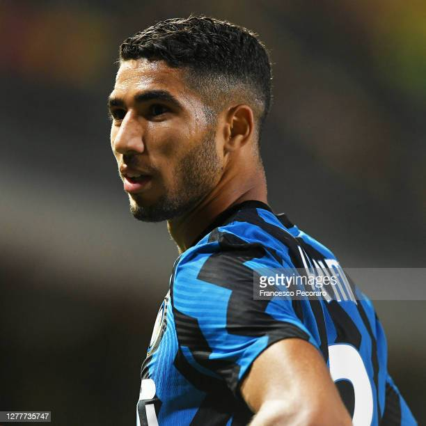 Achraf Hakimi of FC Internazionale during the Serie A match between Benevento Calcio and FC Internazionale at Stadio Ciro Vigorito on September 30,...
