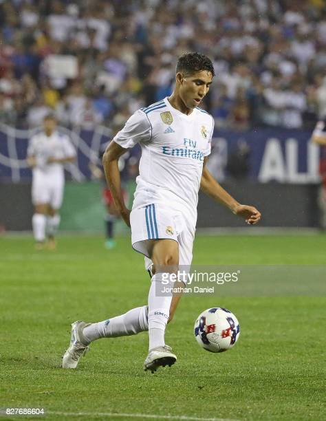 Achraf Hakimi of Real Madrid controls the ball against the MLS AllStars during the 2017 MLS All Star Game at Soldier Field on August 2 2017 in...