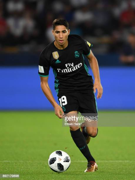 Achraf Hakimi of Real Madrid in action during the FIFA Club World Cup UAE 2017 semifinal match between Al Jazira and Real Madrid on December 13 2017...