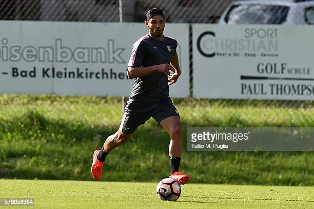 Achraf Lazaar in action during a training session at US Citta' di Palermo training base on July 20 2016 in Bad Kleinkirchheim Austria
