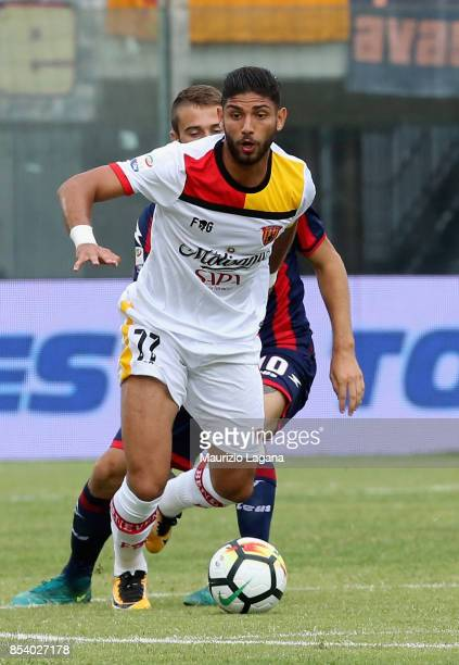 Achraf Lazaar of Benevento during the Serie A match between FC Crotone and Benevento Calcio at Stadio Comunale Ezio Scida on September 24 2017 in...