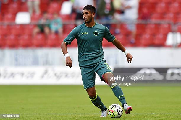 Achraf Lazaar of US Citta' di Palermo in action during the preseason friendly match between Real Sporting de Gijon and US Citta di Palermo at Estadio...