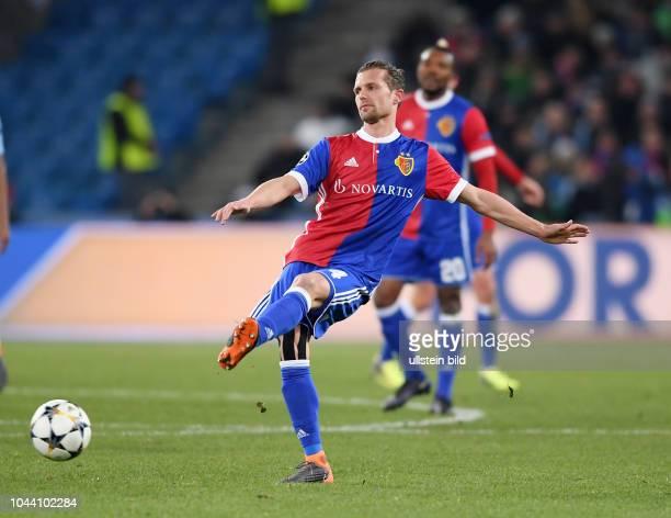 Achtelfinal Hinspiel FC Basel Manchester City Valentin Stocker