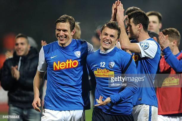 Achtelfinale, Saison 2012/2013 - Fussball, Saison 2012-2013, DFB-Pokal, Achtelfinale, VfL Bochum - 1860 München 3-0, Jubel Bochum nach dem Spiel,...