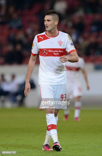 AchtelfinalHinspiel Saison 2012/2013 FUSSBALL INTERNATIONAL UEFA Achtelfinale Hinspiel VfB Stuttgart Lazio Rom Ferderico Macheda