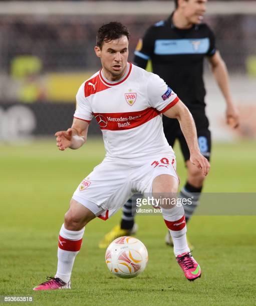 AchtelfinalHinspiel Saison 2012/2013 FUSSBALL INTERNATIONAL UEFA Achtelfinale Hinspiel VfB Stuttgart Lazio Rom Tomas Hajnal am Ball