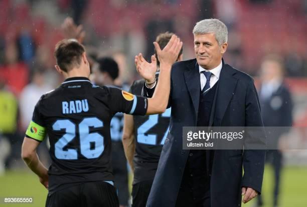 AchtelfinalHinspiel Saison 2012/2013 FUSSBALL INTERNATIONAL UEFA Achtelfinale Hinspiel VfB Stuttgart Lazio Rom Lazio Rom Trainer Vladimir Petkovic...
