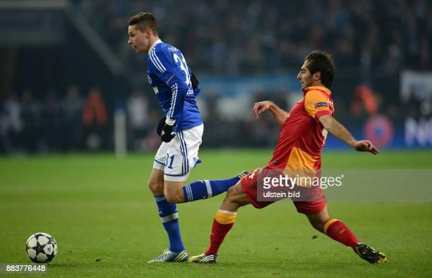 AchtelfinalRückspiel Saison 2012/2013 FUSSBALL CHAMPIONS LEAGUE ACHTELFINALE Rueckspiel 2012/2013 FC Schalke 04 Galatasaray Istanbul Julian Draxler...