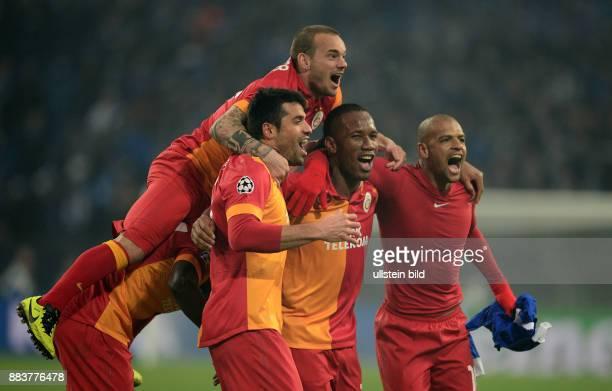 AchtelfinalRückspiel Saison 2012/2013 FUSSBALL CHAMPIONS LEAGUE ACHTELFINALE Rueckspiel 2012/2013 FC Schalke 04 Galatasaray Istanbul Goekhan Zan...